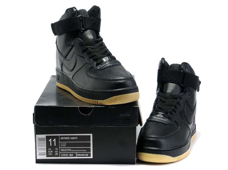 Nike-Air-Force-1-High-07-Blac-Black-Gum-Wheat_
