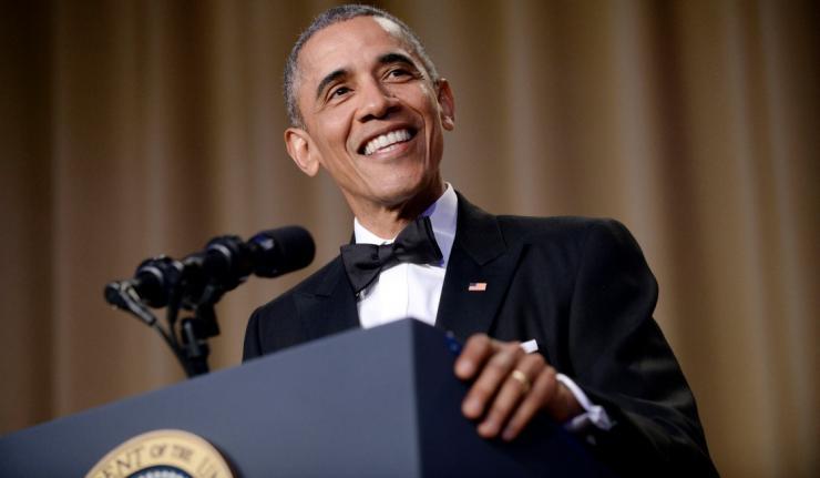 obama diner des correspondants
