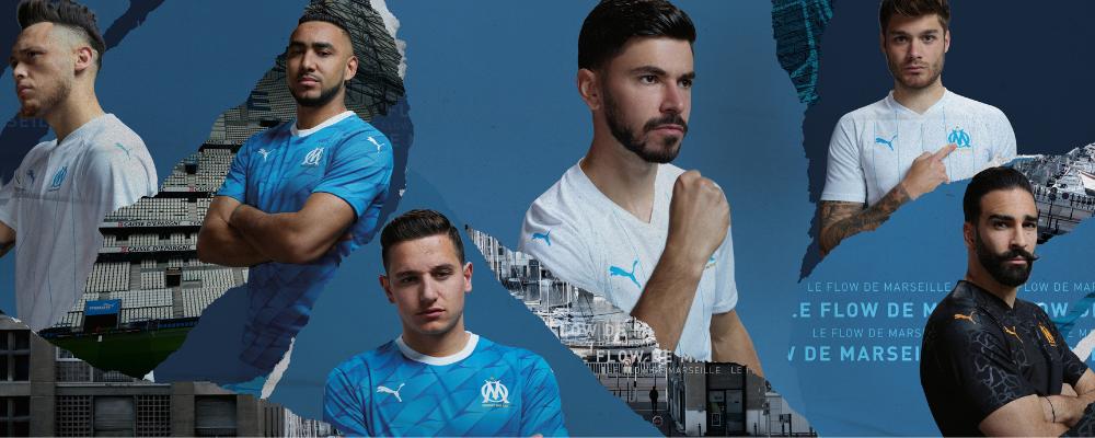 PUMA FOOTBALL X OLYMPIQUE DE MARSEILLE PRÉSENTENT DEUX NOUVEAUX MAILLOTS